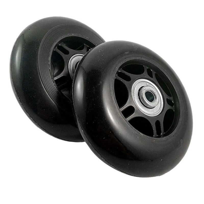 2 Set Luggage Suitcase Replacement Wheels OD 80mm