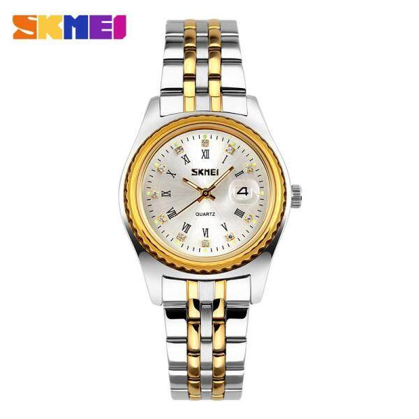 SKMEI Women Quartz Watches Classic Gold Stainless Steel Waterproof Fashion Watch For Women 9098 Malaysia