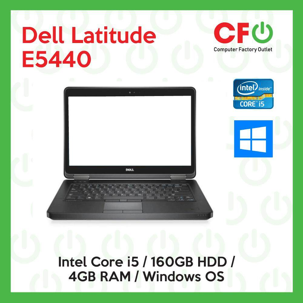 Dell Latitude E5440 / Intel Core i5 / 4GB RAM / 160GB HDD / Windows OS Laptop / 1 Month Warranty (Factory Refurbished) Malaysia