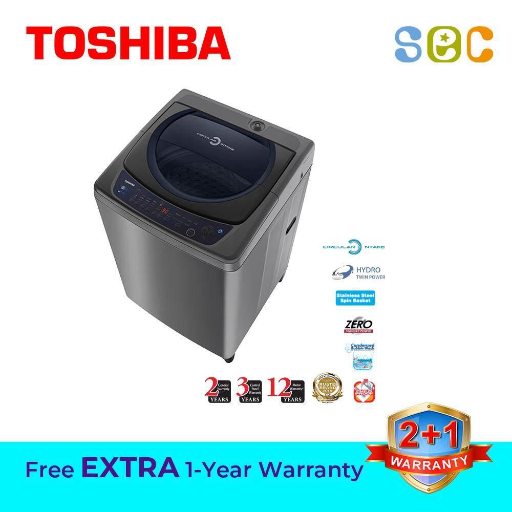 TOSHIBA 9.0KG CIRCULAR AIR INTAKE TOP LOAD WASHING MACHINE, AW-H1000GM