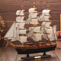 Valueshopping-mal 1 Chiếc Thuyền Buồm Bằng Gỗ Phổ Biến Thuyền Buồm Địa Trung Hải Nội Thất Nghệ Thuật Trang Trí Nội Thất (Màu Sắc Ngẫu Nhiên)