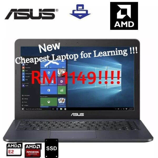 ASUS E402Y-AGA139T,AMD E2-7015/4GB/128GB SSD/14.0 HD/AMD Radeon R2 Graphics//W10/1 YW/DARK BLUE Malaysia
