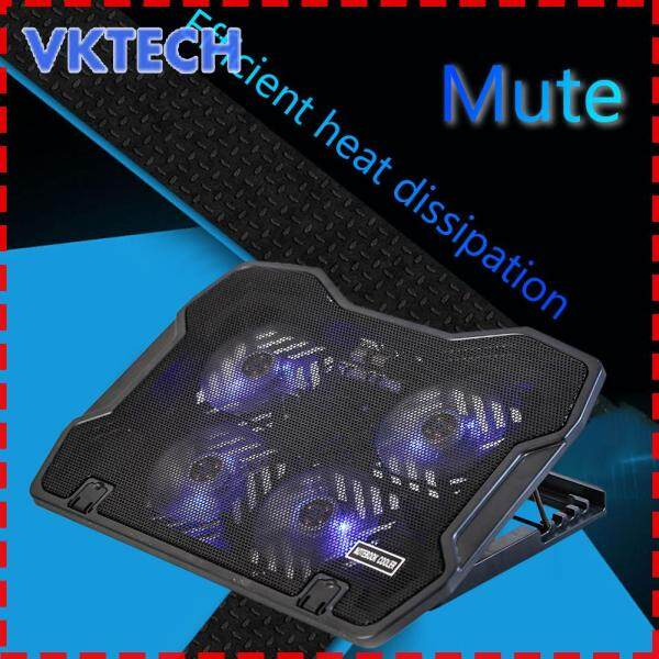 [Vktech] 4 Fans Gaming Laptop Cooling Pad USB Powered Notebook PC Heatsink Cooler Base Stand Riser Malaysia