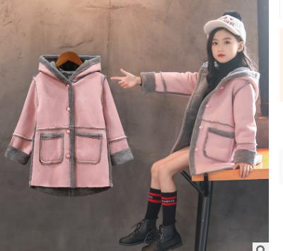Giá bán Áo Khoác Da Lộn Cho Bé Gái Dày 2019 Mới Cho Trẻ Em Hàn Quốc Cộng Với Áo Khoác Nhung Dày