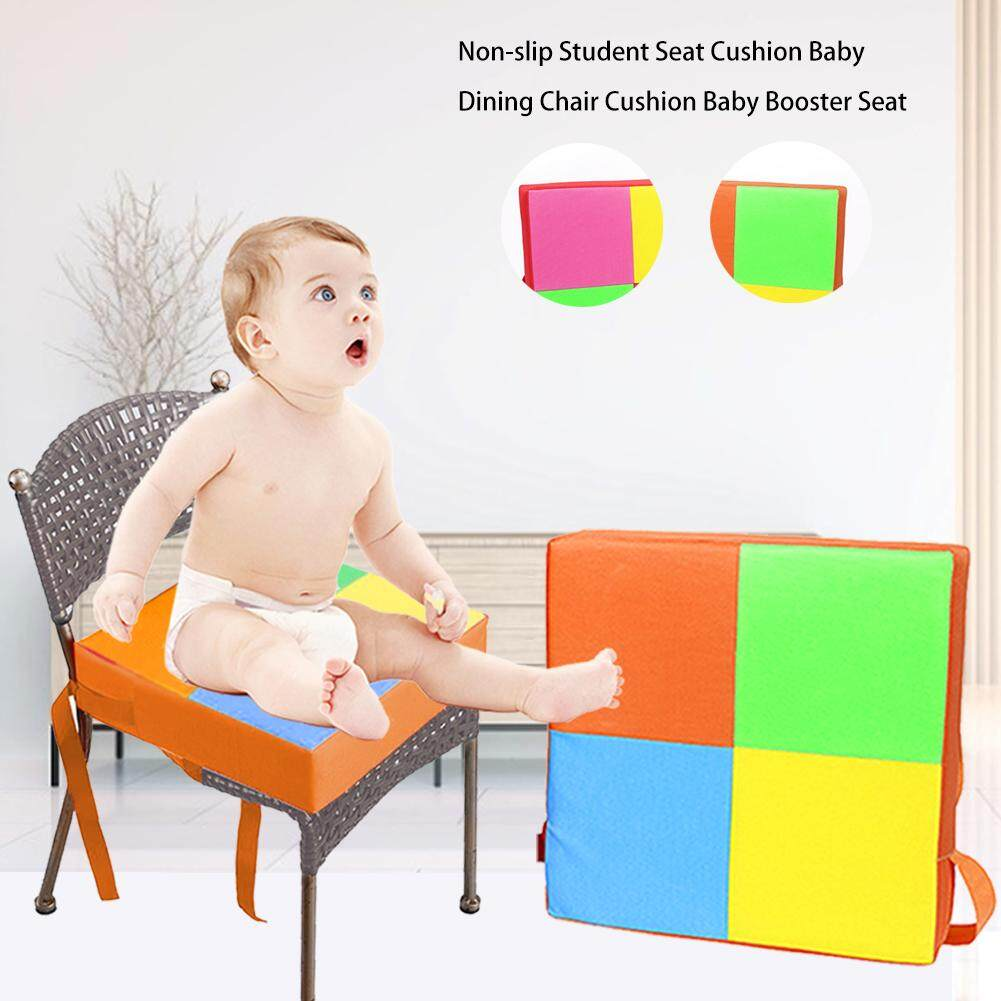 Shumo Baby Dining Chair Booster Cushion Removable Kids High Chair Seat Pad Chair Heightening Cushion Chair Seat Pram Chair Pad Beige Highchair Covers Cushions
