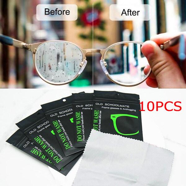 Giá bán 10 Cái Kính Chống Sương Mù Vải Cao Cấp Nano Microfiber Suede Kính Chống Sương Mù Vải Gương Chiếu Hậu Mũ Bảo Hiểm Chống Sương Mù Màn Hình Điện Thoại Khăn Lau