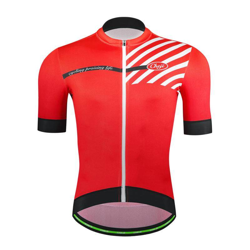 Men Cycling Bike Jersey Short Sleeve Clothing Bicycle Shirt Top Quick Dry Black