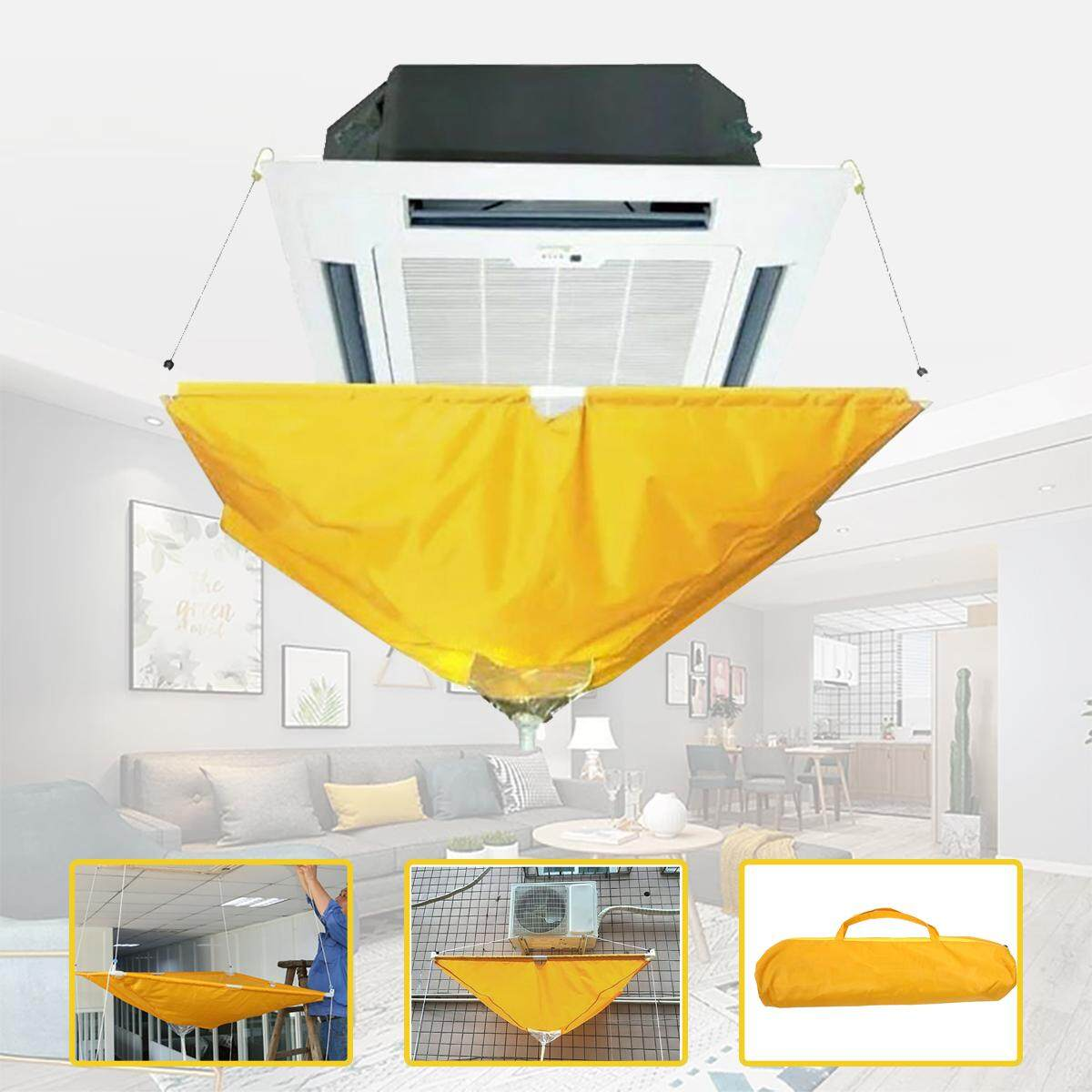 ️ ✨Dream Best~Air Conditioner Cover Cleaning Protector Washing Bag Waterproof Home Clean Tool