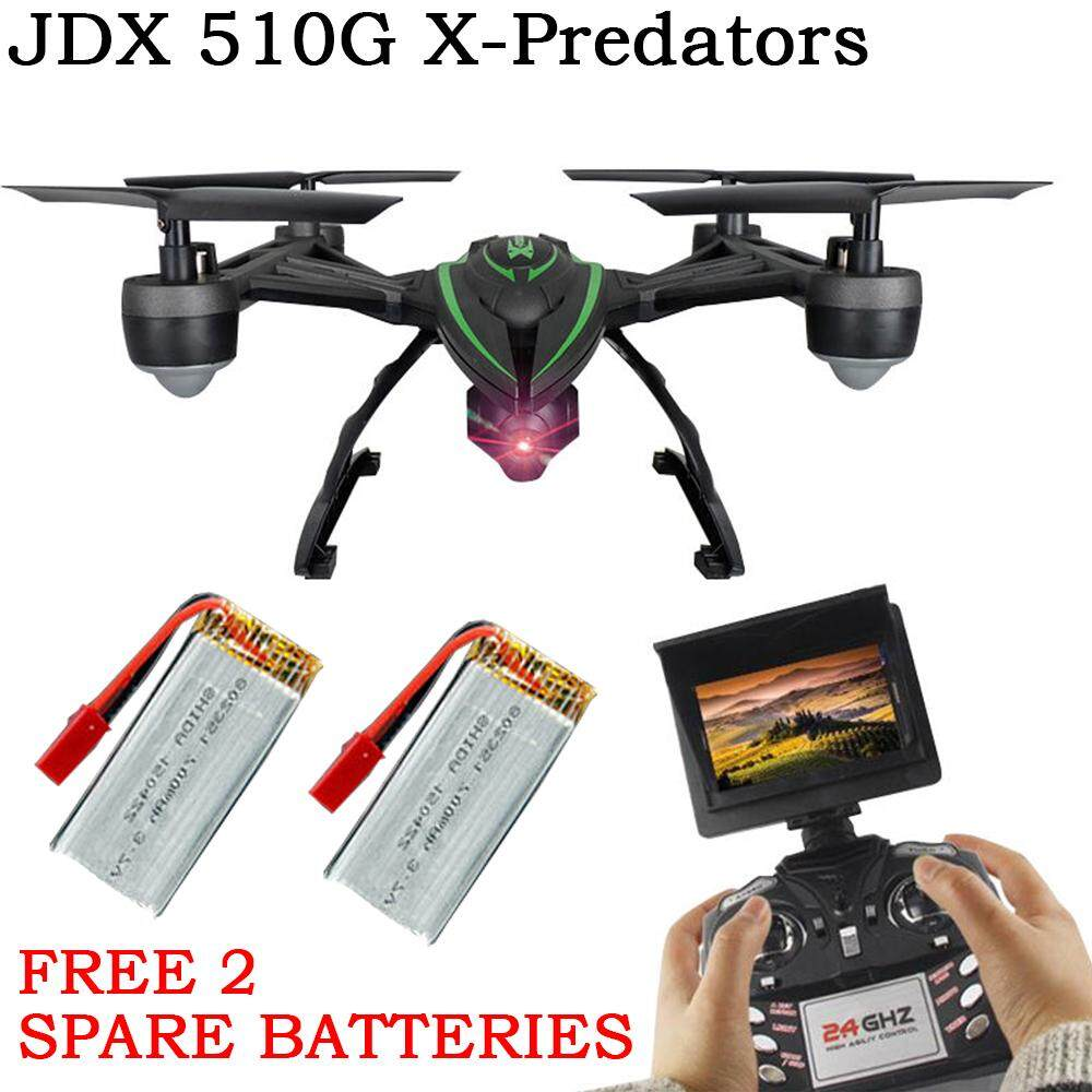 Jxd 510g X-Predators 6-Axis 5.8g Fpv 2.0mp Camera Video Gyro Quadcopter Drone By Theboring.