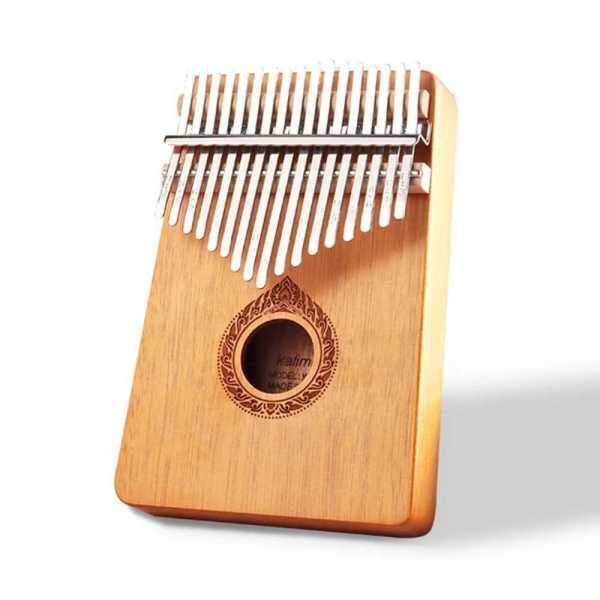 Classic 17-Key Wooden Acoustic Thumb Piano Kalimba Mbira Exquisite Workmanship for Beginners Students (Orange) Malaysia