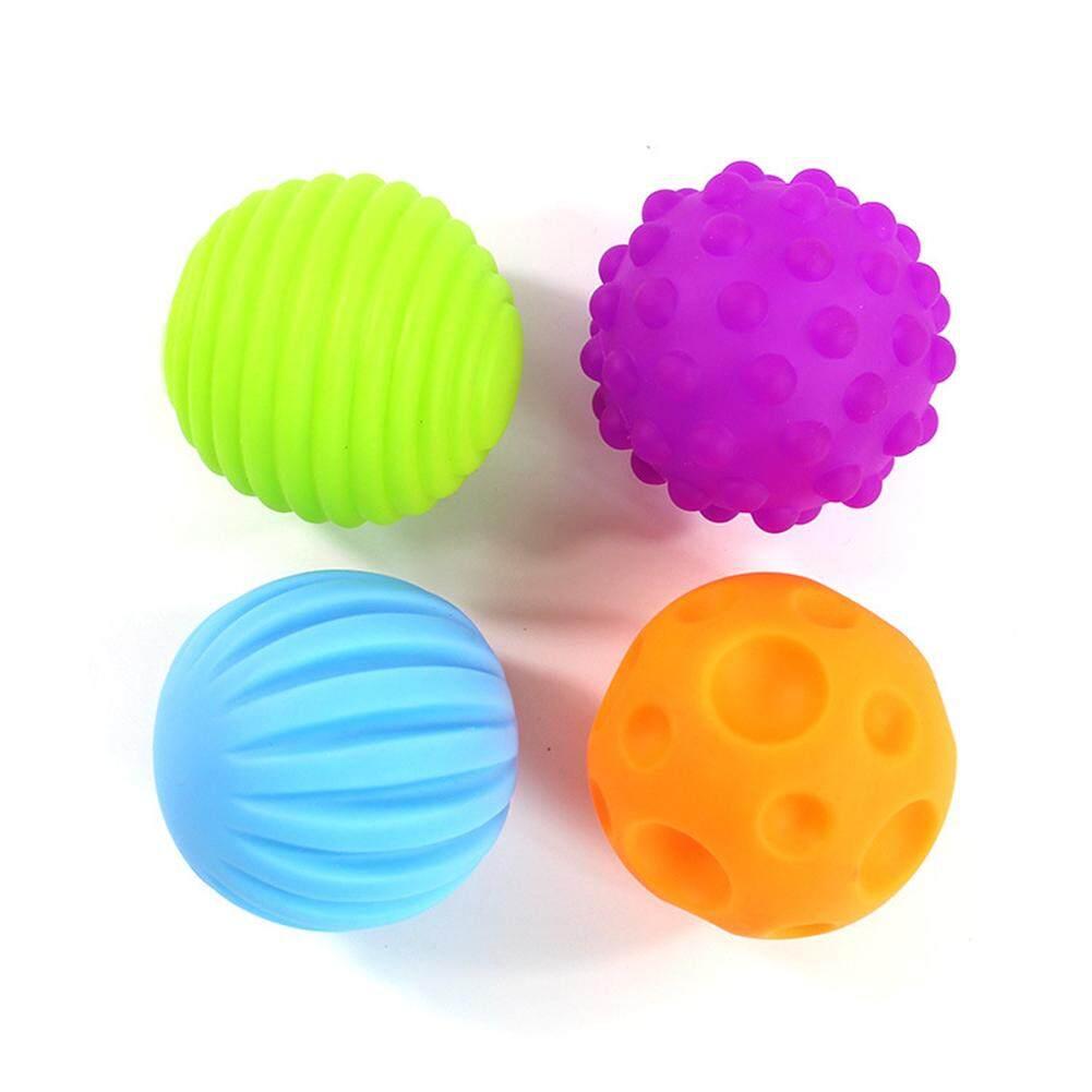 4/6 Pcs เด็กลูกบอลของเล่นเด็ก Touch ลูกบอลมือบีบการเรียนรู้โลภซอฟต์บอลของขวัญเด็ก By Goldworld899