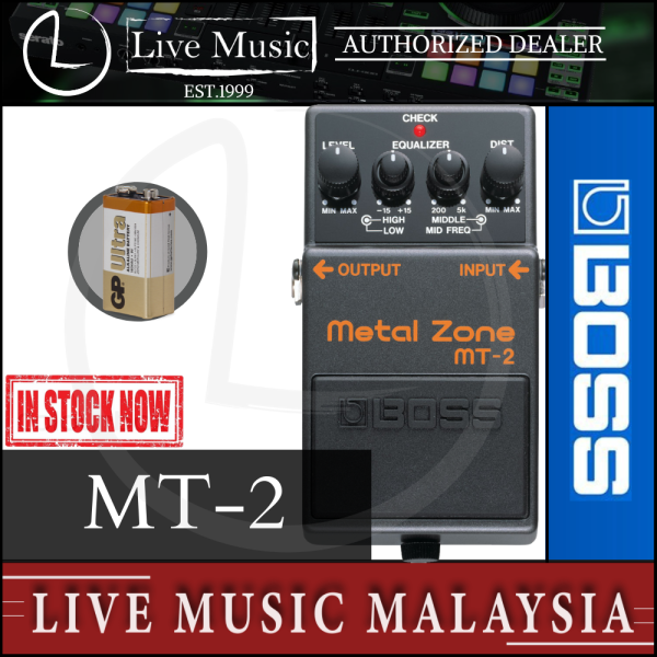 Boss MT-2 Metal Zone Guitar Effects Pedal (MT2) Malaysia