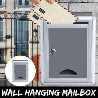 Magideal กล่องจดหมายอลูมิเนียมติดผนังจดหมายโพสต์กล่องจดหมายกลางแจ้ง