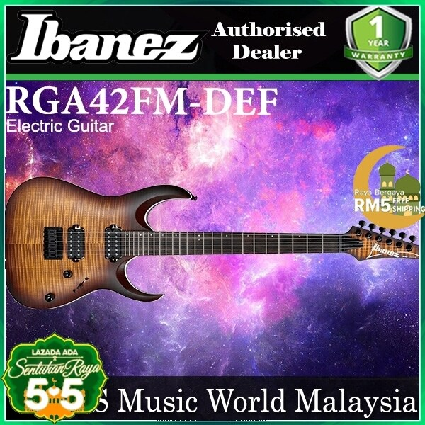 Ibanez RGA42FM-DEF Solid Body Maple Top Electric Guitar Dragon Eye Burst Flat (RGA42FM) Malaysia