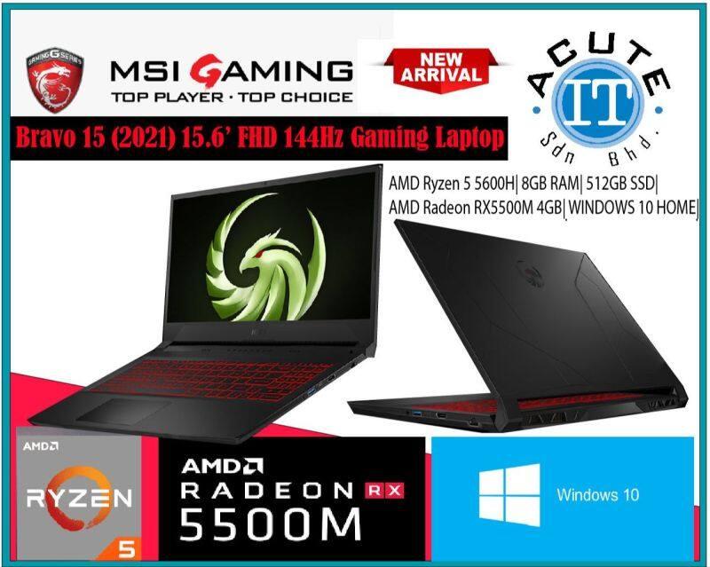 MSI BRAVO 15 B5DD-071 15.6 FHD 144Hz Gaming Laptop Malaysia