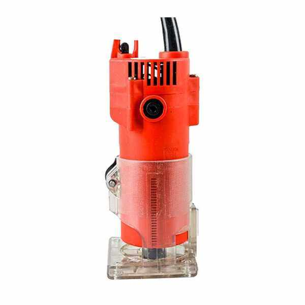 220V 30000rpm 1/4inch 6.35mm Multifunctional Portable Electric Trimmer Router Woodworking Engraving Trimming Machine Wood Working Tool (Eu)