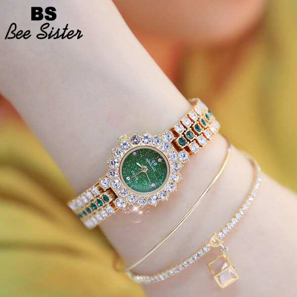 BS Bee Sister Hot Sale Women Watch Fashion Casual Original Top Brand Korean Version Rhinestone Noble And Shine Stainless Steel Watches Diamond Ladies Elegant Gift Wristwatch Malaysia