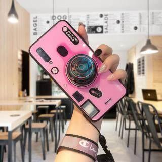 Ốp Hontinga Cho Samsung Galaxy A7 2018 SM-A750 Ốp Lưng Ống Kính Máy Ảnh 3D Dây Đeo Dây Đeo Kính Cường Lực Ốp Lưng Ốp Lưng (Giá Đỡ Ống Kính POP + Dây Đeo Ngẫu Nhiên) thumbnail