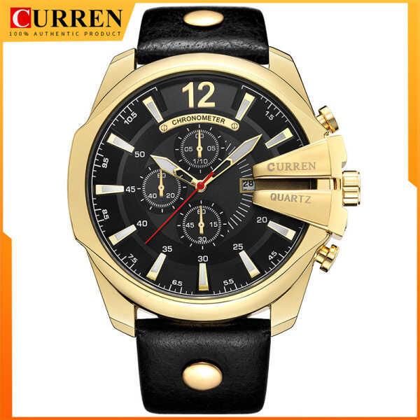 CURREN Mens Casual Sport Quartz Watch Mens Watches Top Brand Luxury Quartz-Watch Leather Strap Military Watch Wrist Male Watch 8176 Malaysia