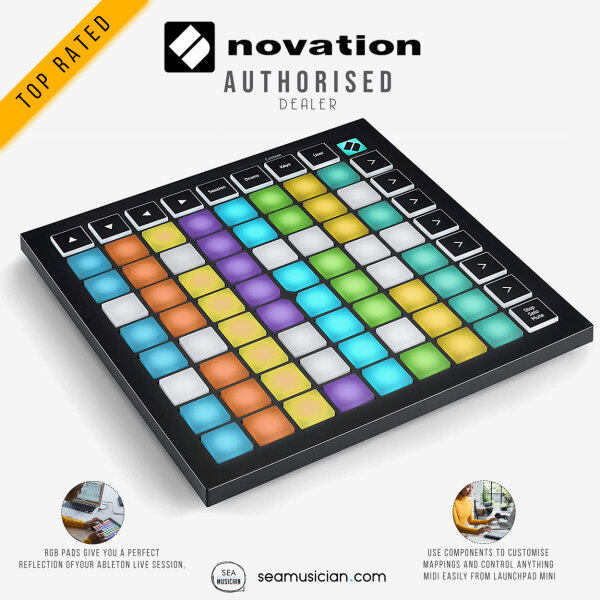 NOVATION LAUNCHPAD MINI MK3 GRID ABLETON LIVE & LOGIC CONTROLLER (MINI-MK3/ MIDI CONTROLLER LAUNCH PAD/ SEAMUSICIAN) Malaysia