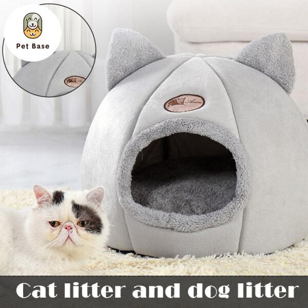 Túi Ngủ Hình Mèo Mềm, Nhà Hang Cho Chó, Cũi Tròn Lập Thể Ấm Cúng Dành Cho Máy Pet 3 Kích Cỡ Rửa An Toàn