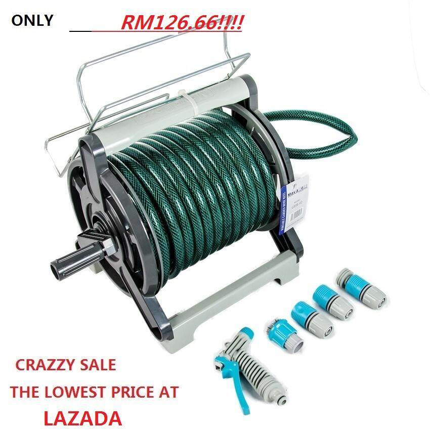 UNBELIEVER SUPER OFFER@@@ORIGINAL MAYA Garden Hose Reel 20 Meter WITH WALL HOLDER