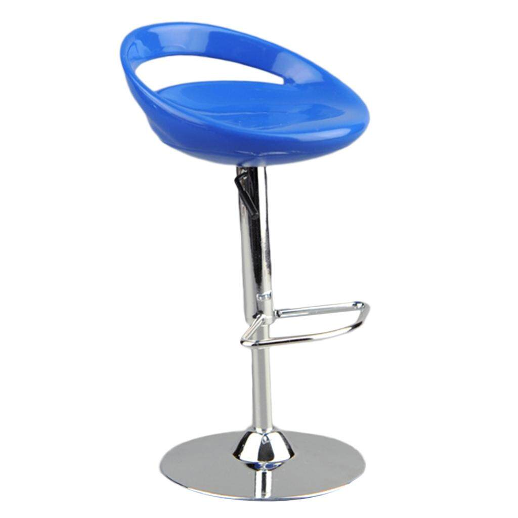 Kesoto 1/6 Scale 6x14cm Dollhouse Round Swivel Chair Pub Bar Stool for 12 inch