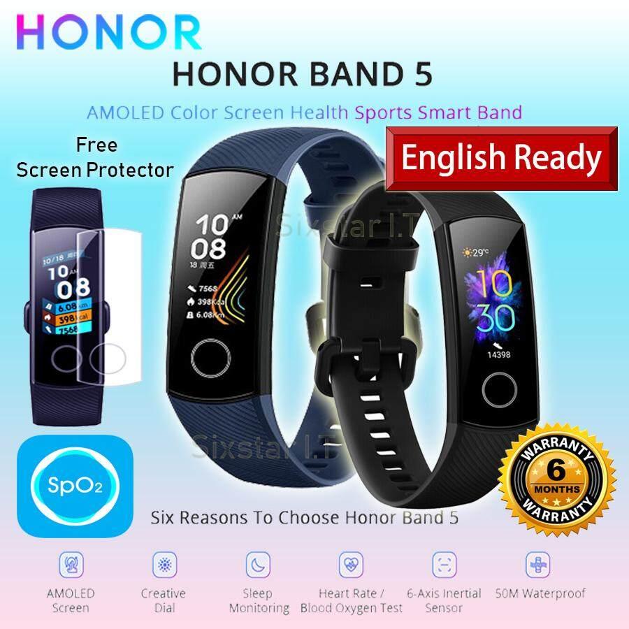 [2019 NEW ] Huawei Honor Band 5 Bracelet Smart Oxygen Blood Oxygen Pantal  Natalie Carrier Monitor Cardiac Frequency Nap Smart Watch
