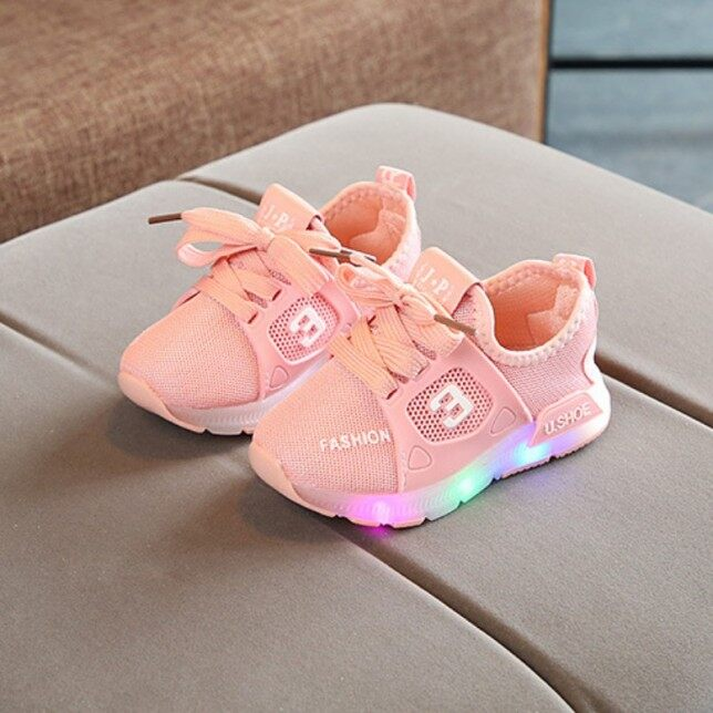 Giày Em Bé Giày Bé Gái LED Thời Trang Giày Tập Đi Thể Thao Cotton Thường Ngày Giày Bé Trai Đèn LED Chiếu Sáng giá rẻ