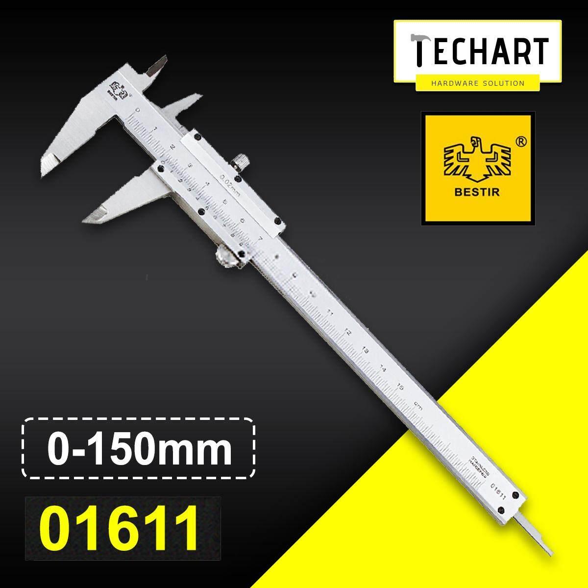 BESTIR 01611 / 01612 / 01613 Stainless Hardened Steel 0~150 / 0~200 / 0~300mm Vernier Caliper Micrometer Measuring Tool