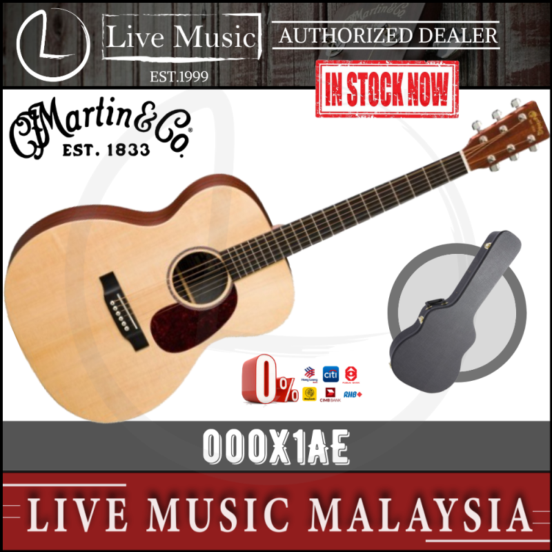 Martin 000X1AE Acoustic-Electric Guitar with Case (000-X1AE) Malaysia