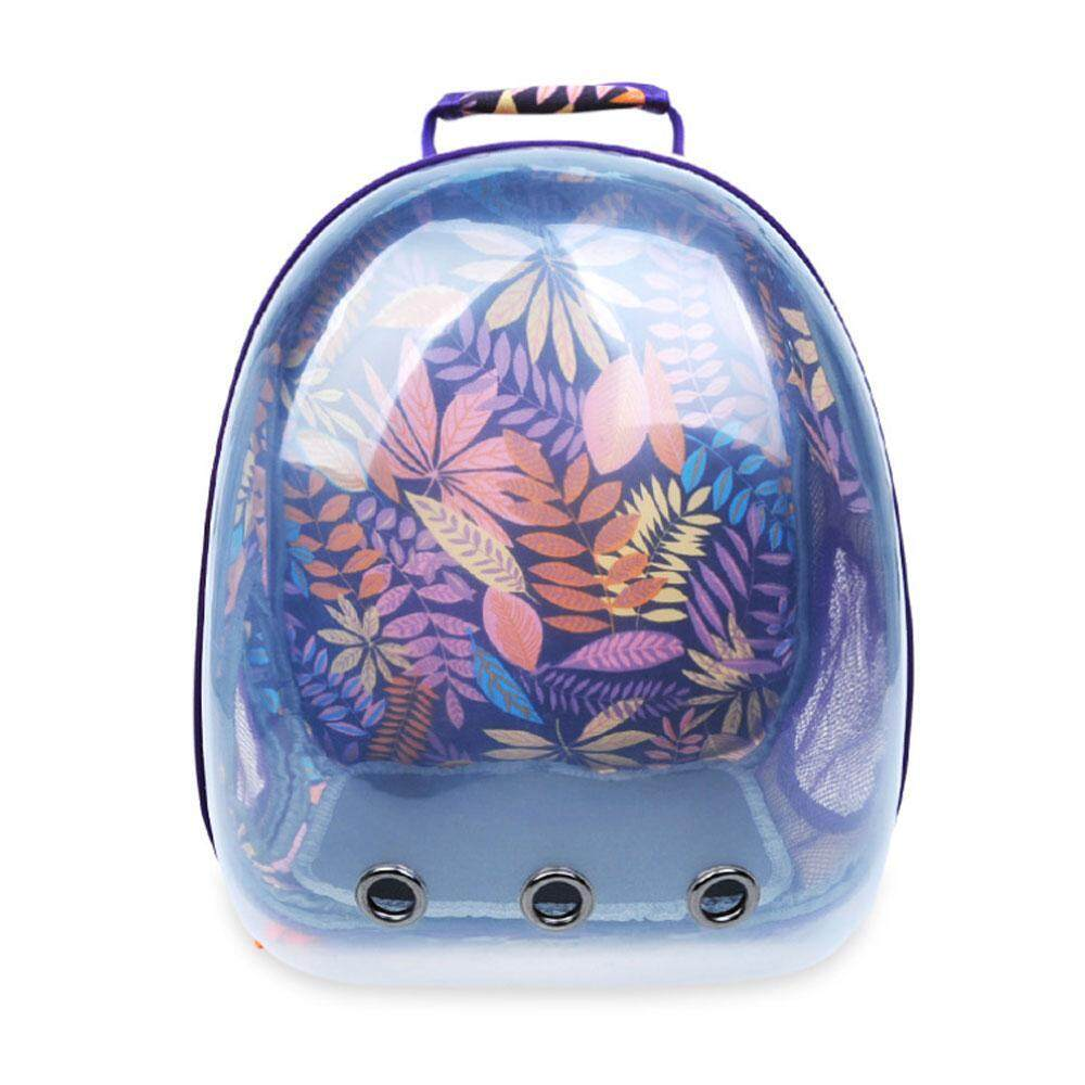 Lightsmile Portable Pet Cat Carrier, 360°sightseeing Transparent Cat Backpack With Printed Pattern, Breathable Cat Carrier Travel Bag Space Capsule Backpack For Cats Puppies By Lightsmile.
