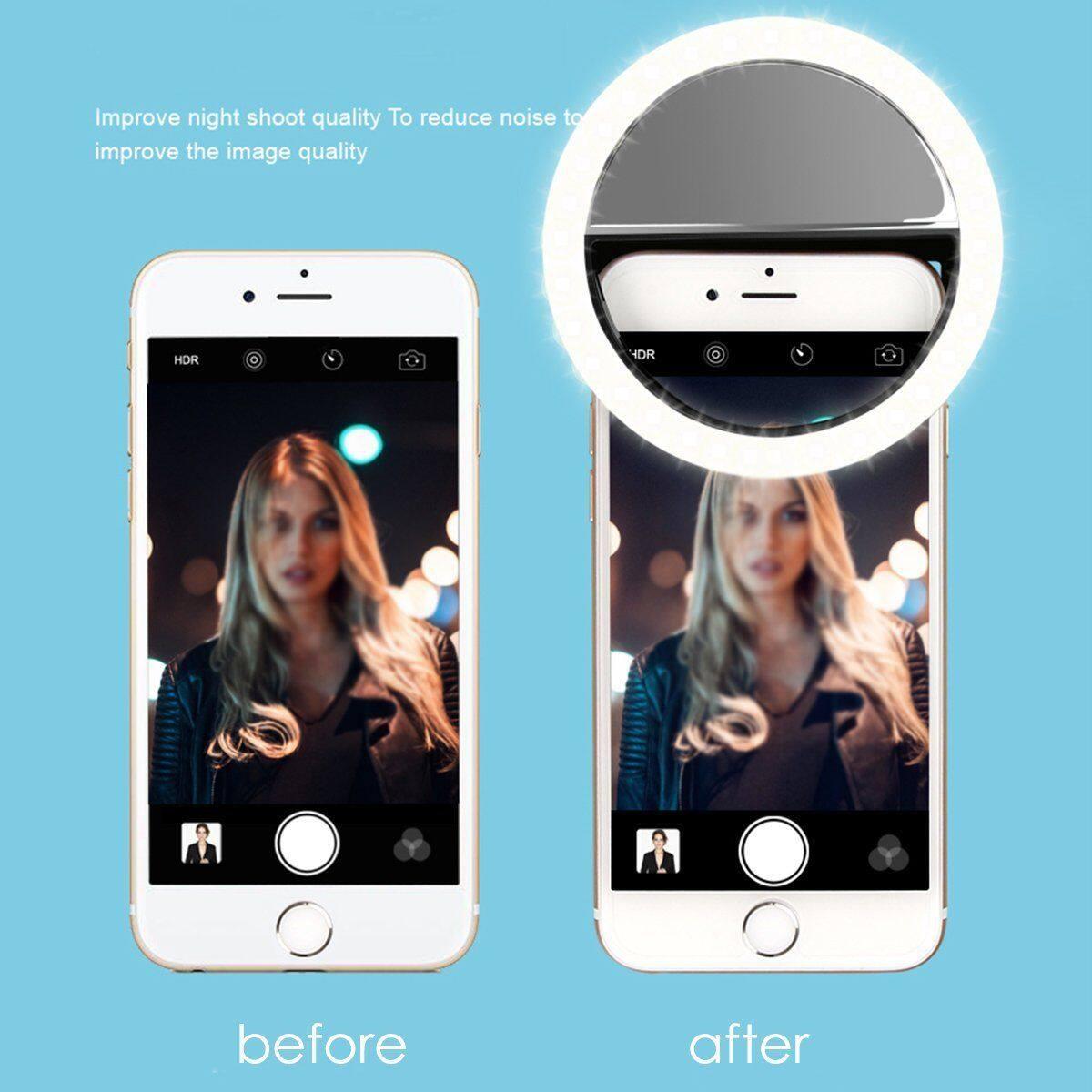Điện Thoại LED Selfie Ring Light Đèn Pin Camera Nhiếp Ảnh Phổ Quát Cho Điện Thoại ( Khanh LInh )
