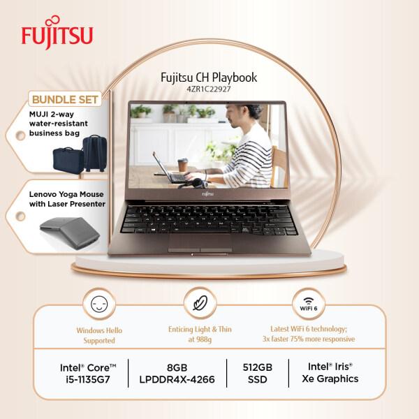 Fujitsu CH 13 4ZR1C22927 Brown Laptop i5-1135G7 8GB-OB 512GB SSD 13.3 FHD W10 + FREE MUJI BAG + Lenovo YOGA Mouse Malaysia