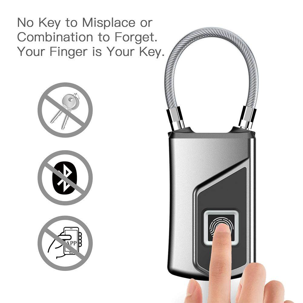 MG Multifunction Fingerprint Padlock Smart Security Door Lock Waterproof Keyless Unlock
