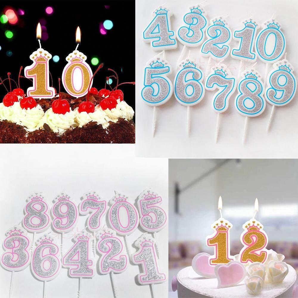 Kreatif Panas Angka Penjualan Lilin Sliver Pink Biru Crown Nomor Ulang Tahun Lilin 0 9 Untuk Anak Anak Dewasa Anak Perempuan Anak Laki Laki Pesta Ulang Tahun Lilin Dekorasi Kue Lazada Indonesia