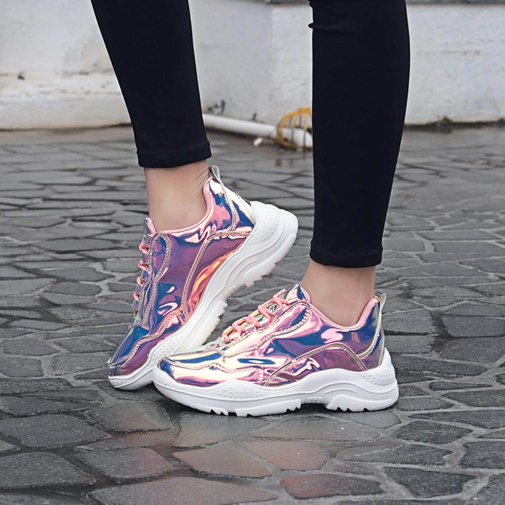 a7c683f5c77c4 Women's Trend Colorful Sneakers Wild Thick Bottom Non-Slip Casual Flat Shoes