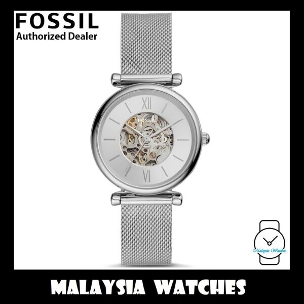 (OFFICIAL WARRANTY) Fossil Womens ME3176 Carlie AUTOMATIC Stainless Steel Mesh Watch (2 Years Fossil Warranty) Malaysia