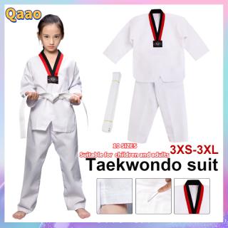 Qao [Sẵn Sàng & CODs Taekwondo Đồng Phục Tập Gym Võ Thuật Karate Jujitsu Dài Tay Kèm Thắt Lưng Cho Trẻ Em Người Lớn Unisex thumbnail