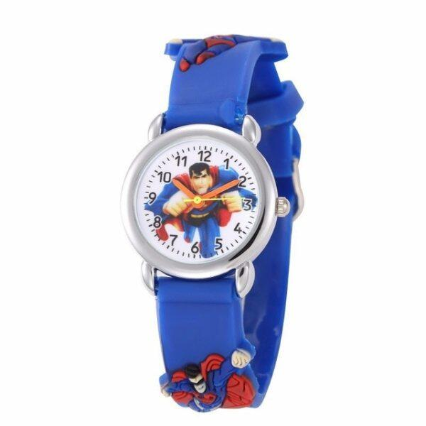 Spider Man Kids Watches Boy and Girls Cute Cartoon Watch Soft Silicone Quartz Sprots Wrist Watches Kids Gifts for Boy and Girls Malaysia