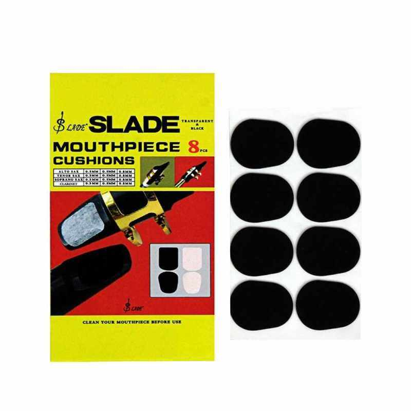 Wind Instrument Accessories 8pcs Alto Tenor Saxophone Clarinet Mouthpiece Cushions Patches Pads Black 0.5mm Thickness (Black) Malaysia