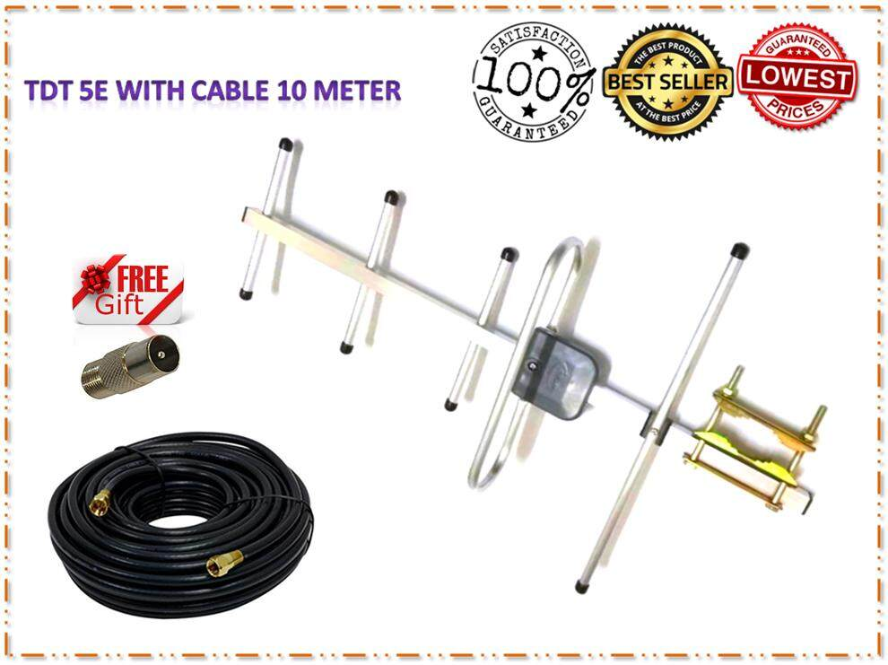 Digital Antenna MYTV TDT-5E with Cable 10 Meters