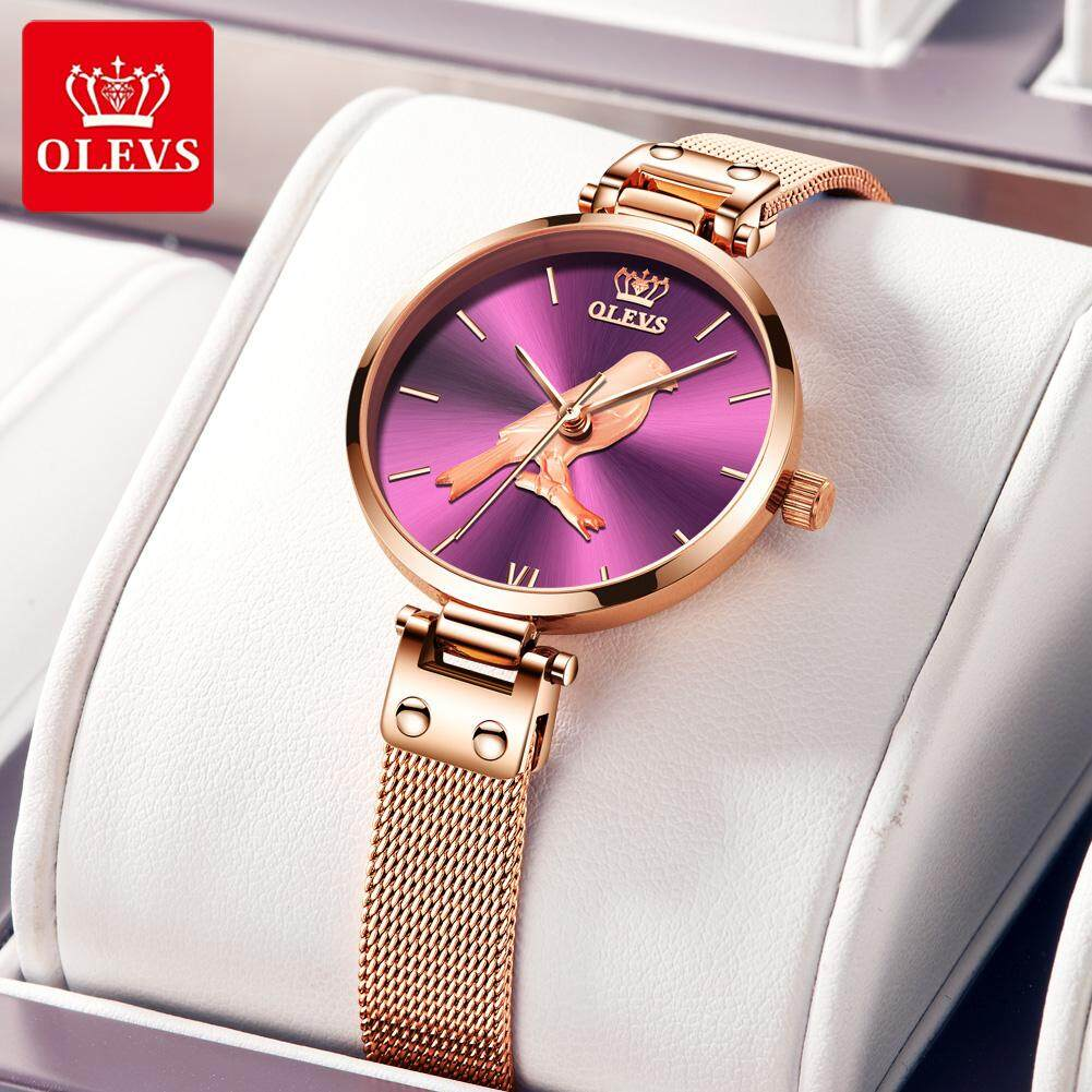 OLEVS Original Waterproof Womens Watch Magnet Stainless Steel Strap, High-end Luxury Fashion, Popular Element Watch INS Style Malaysia