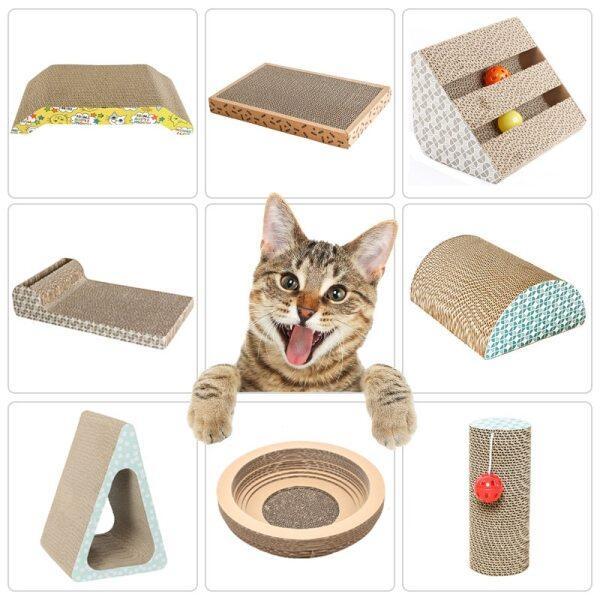 Cat Scratch Board Pad Mài Móng Tay Tương Tác Bảo Vệ Đồ Nội Thất Mèo Đồ Chơi Kích Thước Lớn Mèo Scratcher Đồ Chơi Tông