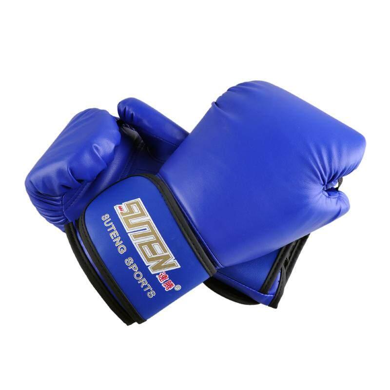 Suteng หนัง Pu อุปกรณ์ฝึกกีฬานวมต่อยมวย (สีฟ้า) By Jusumall.