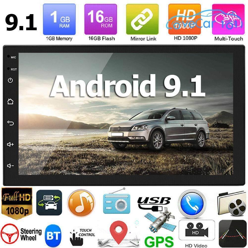 เครื่องเสียงรถ Lovecar101 7168 อัพเกรด 2 Din Android 9.1 Gps  สเตอริโอรถยนต์วิทยุบลูทูธ(cam).