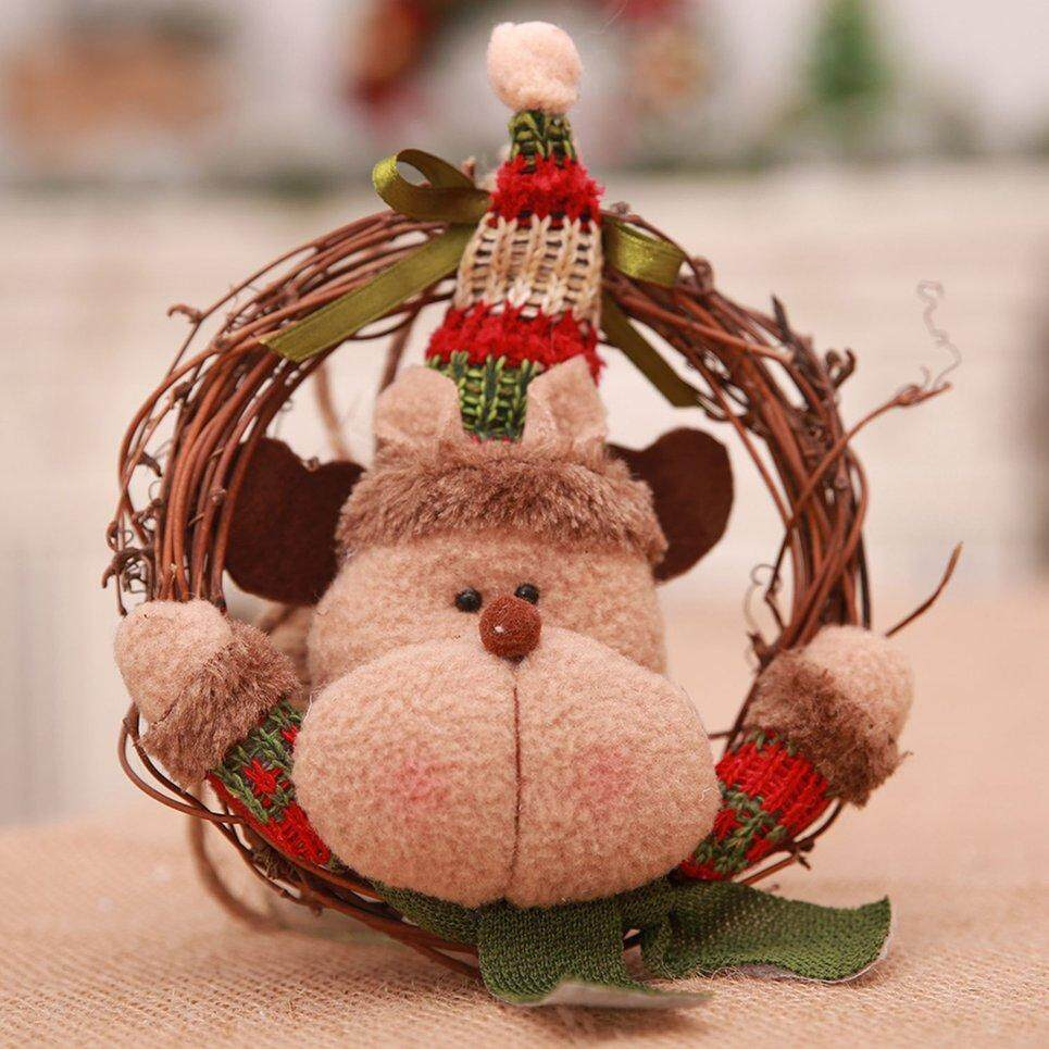 Popo Christmas Decorations Drop Window Garlands Rattan Ring Christmas Tree Pendant By Bulapopo.