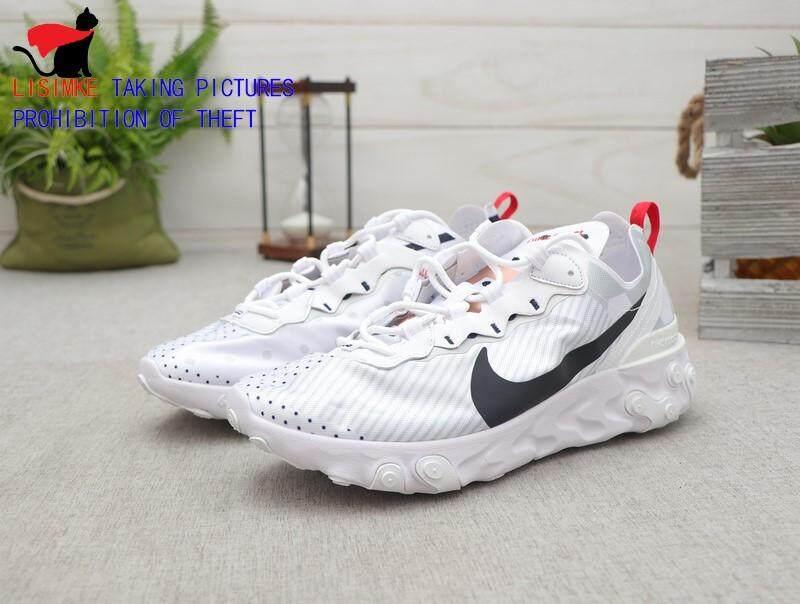[Khusus] Butik Daftar Nike_React_Element 55 PRM SU19 Asli Pria Wanita Clover Olahraga Lari Sepatu Kasual Sepatu Basket Model Sneaker Sepatu Lari Nyaman