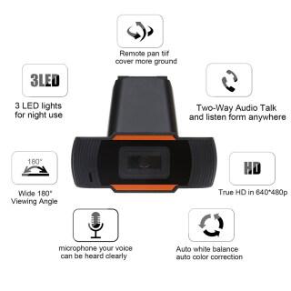 Webcam KEBETEME HD, Camera USB 480P 720P Camera Web Quay Video Xoay Được Kèm Micro, Dành Cho Máy Tính PC 2