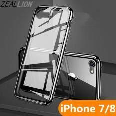 """Zeallion Cho """"iPhone 6 6 S 7 8 Plus"""" Hai Mặt Kính Kim Loại Từ Hấp Phụ Trong Suốt Cường Lực kính cường lực Điện Thoại Ốp Lưng"""
